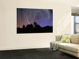 Circular Star Trails Taken from Alentejo, Portugal Wall Mural by  Stocktrek Images