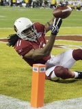 Super Bowl XLIII Football: Tampa, FLORIDA - Larry Fitzgerald Prints by Ross D. Franklin