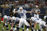 Colts Rams Football: St. Louis, MO - Peyton Manning Photographic Print by Tom Gannam