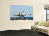 A F/A-18F Super Hornet Launches from the Flight Deck of Aircraft Carrier Uss Nimitz Wall Mural by  Stocktrek Images