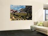 Stocktrek Images - A Confrontation Between a T. Rex and a Spinosaurus Dinosaur - Duvar Resmi
