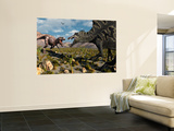 A Confrontation Between a T. Rex and a Spinosaurus Dinosaur Wall Mural by Stocktrek Images