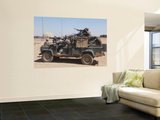 British Paratroopers on Patrol in their Land Rover Wall Mural by  Stocktrek Images