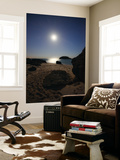 A Full Moon Skyscape over a Small Beach Called Portinho Da Arrabida, Portugal Wall Mural by  Stocktrek Images