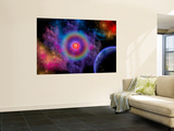 Colorful Emissions are Released from a Distant Star Wall Mural by  Stocktrek Images