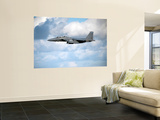 A United States Air Force F-15 Strike Eagle in Flight Wall Mural by  Stocktrek Images