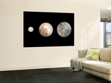 Dwarf Planets Ceres, Pluto, and Eris Wall Mural by  Stocktrek Images