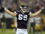 Packers Vikings Football: Minneapolis, MN - Jared Allen Photographic Print by Tom Olmscheid