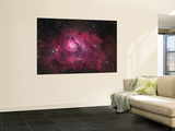 The Lagoon Nebula Wall Mural by  Stocktrek Images