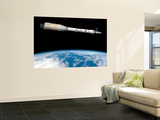 Phobos Mission Rocket System Ready for Departure Wall Mural by  Stocktrek Images