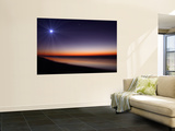 The Moon and Venus at Twilight from the Beach of Pinamar, Argentina Wall Mural by  Stocktrek Images