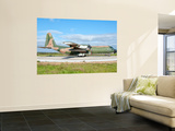 A Portuguese Air Force C-130H Hercules at Montijo Air Base, Portugal Wall Mural by  Stocktrek Images