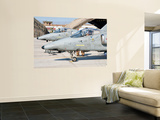 Italian Air Force Amx Fighter Aircraft are Prepared for Deployment Wall Mural by  Stocktrek Images
