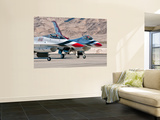 U.S. Air Force Thunderbirds on the Ramp at Nellis Air Force Base, Nevada Wall Mural by  Stocktrek Images
