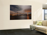 Dramatic Sky over Tjeldsund Bridge in Troms County, Norway Premium Wall Mural by  Stocktrek Images