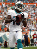Patriots Dolphins Football: Miami, FL - Davone Bess Prints by Wilfredo Lee