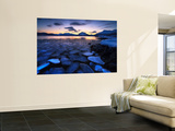 Ice Flakes Drifting Against the Sunset in Tjeldsundet Strait, Troms County, Norway Wall Mural by  Stocktrek Images