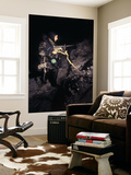 A Navy Seal Crosses the Beach at Night Fully Armed Wall Mural by Stocktrek Images