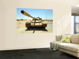A T-55 Tank Destroyed by Nato Forces in the Desert North of Ajadabiya, Libya Wall Mural by  Stocktrek Images