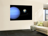 Artist' Concept of Neptune and Earth Wall Mural by  Stocktrek Images