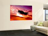 A Grumman F6F Hellcat Fighter Plane in Flight Reproduction murale géante par Stocktrek Images