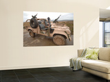 A Pink Panther Land Rover Desert Patrol Vehicle Wall Mural by  Stocktrek Images