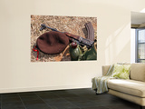 A Rifle, Military Cover and Canteen of a Mozambican Soldier Wall Mural by  Stocktrek Images