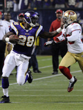 49ers Vikings Football: Minneapolis, MN - Adrian Peterson Photographic Print by Jim Mone