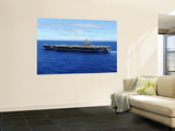 The Aircraft Carrier USS Abraham Lincoln Transits across the Pacific Ocean Wall Mural by  Stocktrek Images