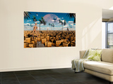 Artist's Concept of Aliens Visiting Other Alien Worlds Wall Mural by  Stocktrek Images