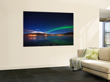 Aurora over Tjeldsundet and Sætertinden Mountain in Norway Wall Mural by  Stocktrek Images