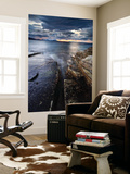 Midnight Sun over Vagsfjorden in Troms County, Norway Wall Mural by  Stocktrek Images
