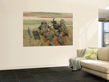 British Army Soldiers Participate in Sustained Fire Training Wall Mural by  Stocktrek Images