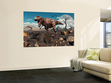 A T. Rex Is About to Make a Meal of a Dead Triceratops Wall Mural by  Stocktrek Images