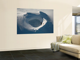 Aerial View of Frozen Lake in Summit Crater Mount Douglas Volcano, Alaskan Peninsula Wall Mural by  Stocktrek Images