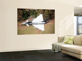 A Eurofighter Typhoon F2 Aircraft of the Royal Air Force Low Flying over North Wales Wall Mural by  Stocktrek Images