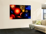 Conceptual Image of Binary Star Systems That are Found Throughout Our Galaxy Wall Mural by  Stocktrek Images