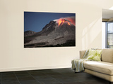 Glowing Lava Dome During Eruption of Soufriere Hills Volcano, Montserrat, Caribbean Wall Mural by  Stocktrek Images