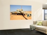 A M109 Howitzer Destroyed by Nato Forces in the Desert Outside Benghazi, Libya Wall Mural by  Stocktrek Images