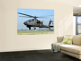 A Dutch Ah-64 Apache Deployed to Frosinone Air Base, Italy for Training Wall Mural by  Stocktrek Images
