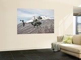 Two Breda Nardi Nh-500 Helicopters of the Italian Air Force over Frosinone, Italy Wall Mural by  Stocktrek Images