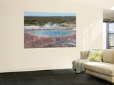 Grand Prismatic Spring, Midway Geyser Basin Geothermal Area, Yellowstone National Park, Wyoming Wall Mural by  Stocktrek Images