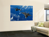 U.S. Air Force F-22 Raptors in Flight Near Guam Wall Mural by  Stocktrek Images