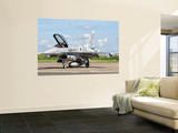 A Polish Air Force F-16 Block 52 at Cambrai Air Base, France Wall Mural by Stocktrek Images