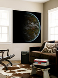 A Partially Lit Terrestrial World Wall Mural by  Stocktrek Images