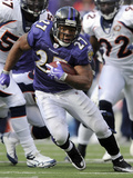 Broncos Ravens Football: Baltimore, MD - Ray Rice Photographic Print by Nick Wass