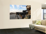 A Soldier Sights in to Fire on a Target on a Shooting Range Wall Mural by  Stocktrek Images