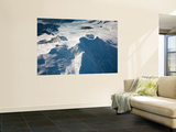 Aerial View of Glaciated Mount Douglas Volcano, Alaskan Peninsula Wall Mural by  Stocktrek Images