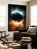 A Rare Planet Surrounded by a Cloud of Plasmatic Nitrogen and Flames Wall Mural by  Stocktrek Images