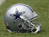 Cowboys Buccaneers Football: Tampa, FL - Dallas Cowboys Helmet Photographic Print by Chris O'Meara